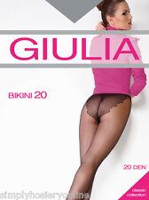 Giulia Bikini 20 Medias Denier 1 Par Estampado Braguita De XL NO PANEL TRASERO