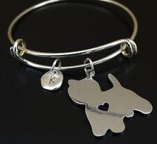West Highland White Terrier Bracelet, Westie Bangle, Westie Dog, Westie Dog