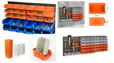 Wall Mounted Storage Bin & Board Set For Garage DIY Tools Rack Organizer