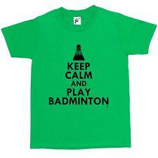 Keep Calm & Play Badminton - Shuttlecock Kids Boys / Girls T-Shirt