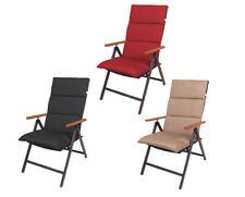 Hochlehnerkissen - 3 Farben - Sitzpolsterauflage Stuhlauflage Gartenmöbelpolster