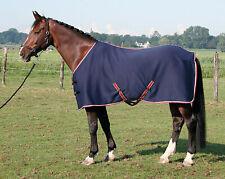 Harry's Horse Jersey Cooler Decke Fleecedecke m. Flanell-Futter Kreuzgurte Navy