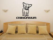 Chihuahua mascota Cuarto De Estar Comedor adhesivo para dormitorio pared imagen