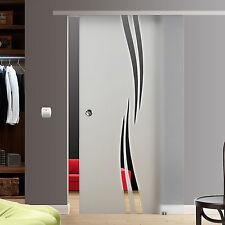 Soft Stop Slim Line Glasschiebetür Glas Schiebetür Dekor M2-AS