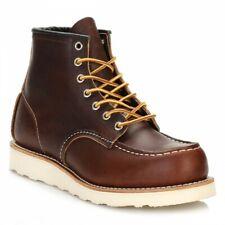 Red Wing Shoes Homme Bottines, Briar Marée Noire Marron 6 pouces, MOC TOE, cuir