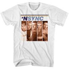 NSYNC BOXES WHITE ADULT Short Sleeve T-Shirt