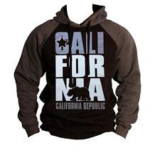 New California Republic Raglan Hoodie cali ca bear flag dope swag sweatshirt