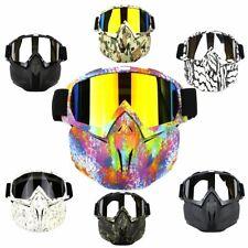 Motorcycle Goggles Detachable Modular Shield Face ATV MX Racing Ski Helmet  Mask
