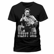 OFFICIAL Johnny Cash Flippin' Finger Newspaper Print JOHNNY CASH T-Shirt 11A