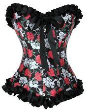 Skulls & Roses Totenkopf Corsage Korsett Burlesque Gothic Gr. S M L XL XXL