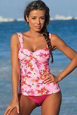 UjENA Swimwear G214 Sunset Beach Twist Tankini Bikini Swimsuit Sizes M,L  NWT