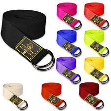 D-Ring Cotton Yoga Stretch Strap Training Belt Leg Fitness Exercise Gym Kombat