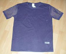 Neues Herren-T-Shirt mit Netzärmel in Plaume Gr. 5   S    und Gr. 6    L