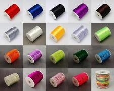 2mm Premium Rattail Satin Nylon Cord  Kumihimo Shamballa 2.5M, 5M, 10M, B2GOF