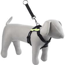 Adjustable Kumfi Dog Puppy Car Safety Exercise Harness Pet Face Training Black