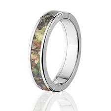 00004000 Camo Rings, Mens Camo Wedding Bands, Licensed Mossy Oak New Break Up Rings