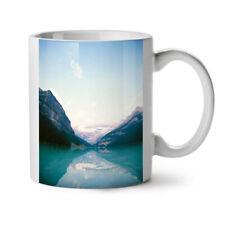 Water Reflection Blue Mountain NEW White Tea Coffee Mug 11 oz   Wellcoda