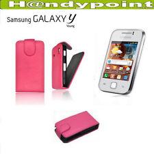 Tasche für Samsung GT-S5360 Galaxy Y Flipcase Hülle Schutzhülle Handytasche Pink