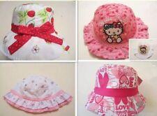 New Girls Kids Toddler Children Cotton Bucket Sun Hat Cap Wide Brim Many Styles