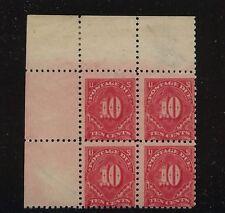 US J56a Mint NH block  with cert catalog $1,000.00 LOOK  cert  #  33 J56a25