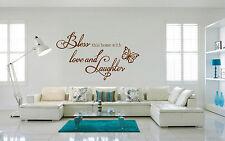 HAND Carving benedica amore e risate parole preventivo Muro ARTE Adesivo UK DECO rui178