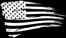 American flag weathered distressed vinyl die cut sticker decal