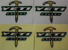 YETI die cut red/ black on white bike Vinyl decal sticker  2pcs many sizes