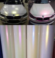 5 Colors - Glossy Pearl White Vinyl Chameleon Film Wrap Car Sticker Bubble Free
