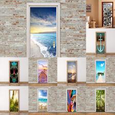 3D Modern Self-adhesive PVC Waterproof Door Stickers Mural Decals Home Decor