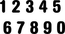 Aufkleber Sticker Tattoo -Zahl/ Ziffer in 10 cm Höhe glänzende Folie-Artikel 834