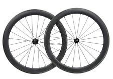55mm Carbon Wheels matt rim 700C Road bicycle Tubeless Clincher Cycle Powerway