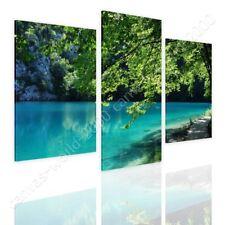 READY TO HANG CANVAS Lake In A Park Croatia Split 3 Panels 3 Panels Framed Art