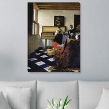"""WANDKINGS Leinwandbild Jan Vermeer - """"Eine Dame am Virginal mit einem Kavalier"""""""