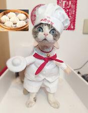 Cute Pet Dog Cat Clothes Christmas Fancy Costume Funny Puppy Chef Uniform Coat