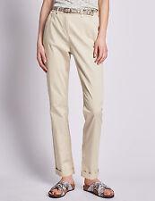 Femmes Per Una Roma Rise Riche en Coton Coupe Droite Pantalon Chino RRP £ 39.50 - Ref MS35