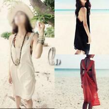 AU STOCK SEXY WOMENS COTTON BACKLESS BEACH BIKINI COVER SWIMWEAR DRESS SW009