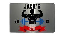 Personalised Gym Name & Year Metal Aluminium Sign Plaque Fitness Door 5 Sizes