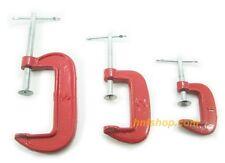 "C-clamp G-clamp 1"", 2"" or 3"" hduty metal woodworks carpenter handyman vise grip"