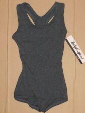 NWT Body Wrappers Dance Ballet Racer Back Leotard Dark Heather Girls Sizes