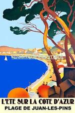 "HUGE 36""X48"" Cote Azur French Riviera Juan Les Pins Vintage Poster Repro FREE SH"