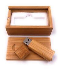 Holz Box Geschenk zum aufschieben mit USB Stick 8GB 16GB 32GB USB 2.0