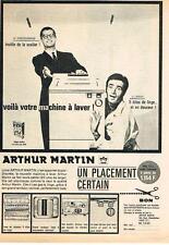 PUBLICITE ADVERTISING    1963   ARTHUR MARTIN  machine à laver