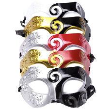 Mens Roman Warrior Ornate Two Tone Masquerade Ball Prom Halloween Mask.