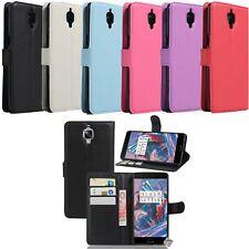 Housse etui coque pochette portefeuille pour OnePlus 3T + film ecran