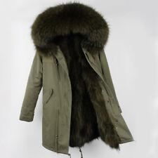 Cappotto Donna Parka  Piumino Pelliccia Vera Colorata Pelo Vero Lungo Coat Fur