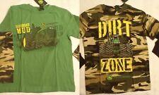 JOHN DEERE Boys XS 4 5 Long Sleeve Cotton Camouflage or Green Shirt Choice NWT