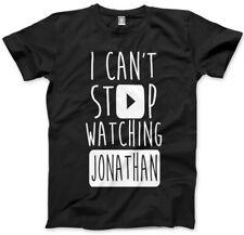 No puedo dejar de ver Jonathan-vlogger Star youtubers T-Shirt muchos Tamaños