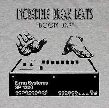 BOOM BAP  BREAK BEATS T SHIRT  DJ CLASSIC HIP HOP ILL SP 1200 PRODUCER