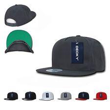 Decky Flat Bill Snapback Cotton Two Tone Baseball Green Under Visor Hats Caps