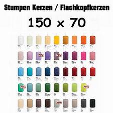 12 Stumpen Kerzen 150x70mm 1.Wahl Qualität / Kerzen Wiedemann / neue Farben 2016